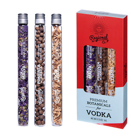 Regional & co – Vodka botanicals 3 pak i glasrør