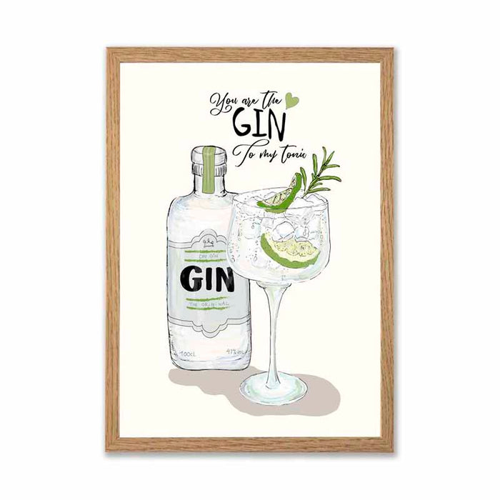 Mouse & Pen - You are the gin to my tonic A3