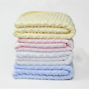 75Cm X 100Cm Fleece Newborn Baby Blanket - Bedding