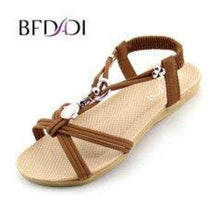 Load image into Gallery viewer, Ankle-Strap Flat Sandals - Sandals