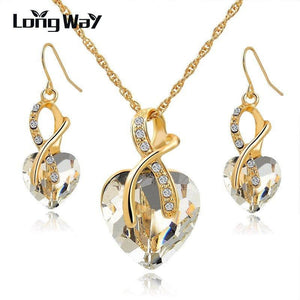 Austrian Crystal Luxury Jewelry Set - Jewelry set