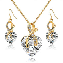 Load image into Gallery viewer, Austrian Crystal Luxury Jewelry Set - Gold White - Jewelry set