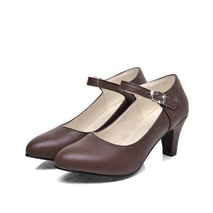 Autumn Pointed Toe Shoes - Brown / 4 - shoes