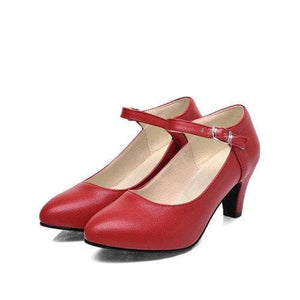 Autumn Pointed Toe Shoes - Red / 4 - shoes