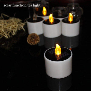 Big Yellow Solar Power Battery Operated Candles-6Pcs/lot - Electric Candles