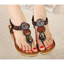 Load image into Gallery viewer, Bohemian Wedge Sandals - Sandals