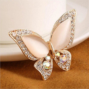 Butterfly Brooch Jewelry Gift - White - Jewelry