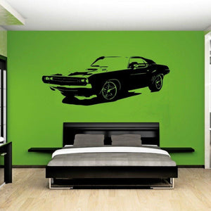 Car Dodge Challenger Wall Sticker - Wall Art