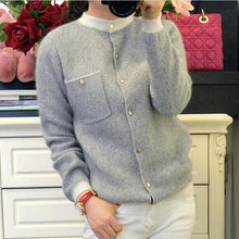 Load image into Gallery viewer, Cashmere Cardigan - Gray / S - Cardigan