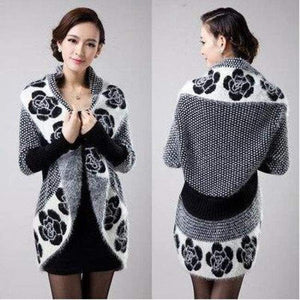 Casual Knitted Wool Sweater - Cardigan