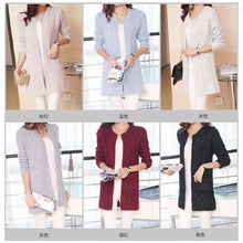 Load image into Gallery viewer, Casual Long Sleeve Knitted Cardigan - Cardigan