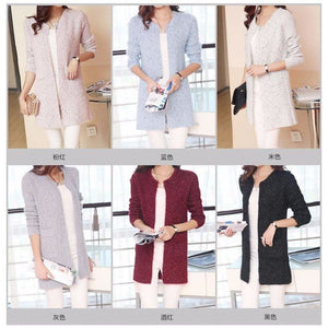 Casual Long Sleeve Knitted Cardigan - Cardigan