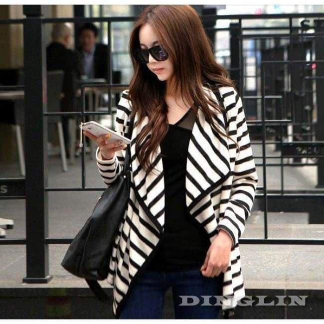 Casual Loose Cardigan - Black / L - Cardigan