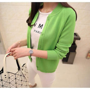 Casual Spring/autumn Cardigan - Apple Green / S - Cardigan