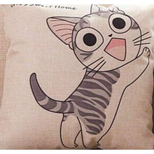 Load image into Gallery viewer, Cat Printed Cotton Cushion - Climb / No Filling - Pillow Case