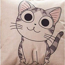 Load image into Gallery viewer, Cat Printed Cotton Cushion - Cute / No Filling - Pillow Case