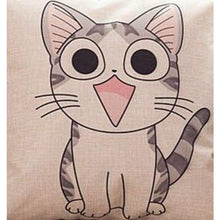 Load image into Gallery viewer, Cat Printed Cotton Cushion - Stare / No Filling - Pillow Case