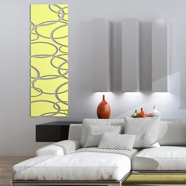 Circular Mirrored Wall Decoration - Wall Art