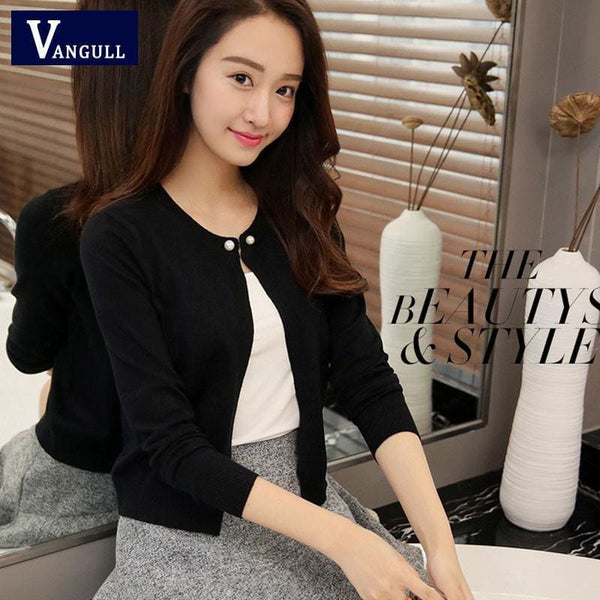 Cute Autumn Sweater - Black / L - Cardigan