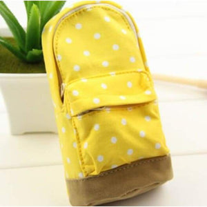 Dot Fabric Pencil Case - Yellow - Pencil Case