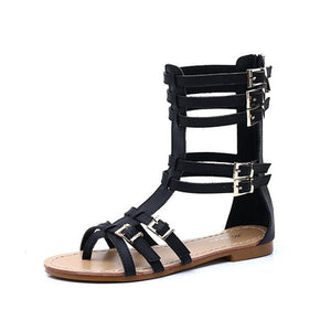 Fashion Gladiator Sandals - Black / 5 - Sandals
