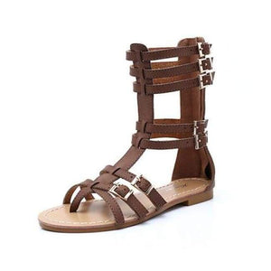 Fashion Gladiator Sandals - Brown / 5 - Sandals