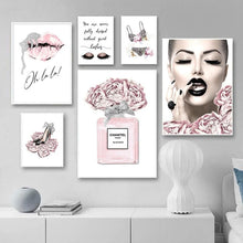 Load image into Gallery viewer, Fashion Makeup Canvas Poster Print - Wall Art