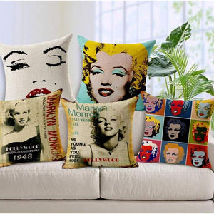 Film Starlet Throw Pillow - Pillowcase