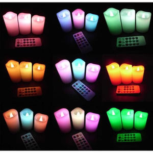 Flameless Color Changing Candles-3Pcs/Lot - Electric Candles