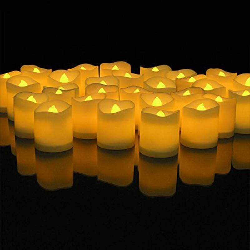 Flameless Tea Lights Electric Candles - 48Pcs - Electric Candles