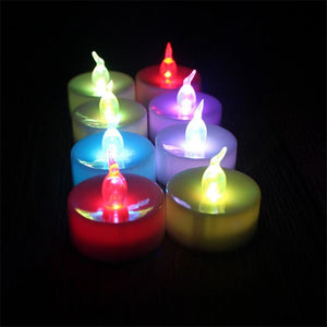 Flickering Tea Lights LED Candles-100 pcs - color changing - Electric Candles