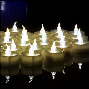 Flickering Tea Lights LED Candles-100 pcs - warm white flicker - Electric Candles