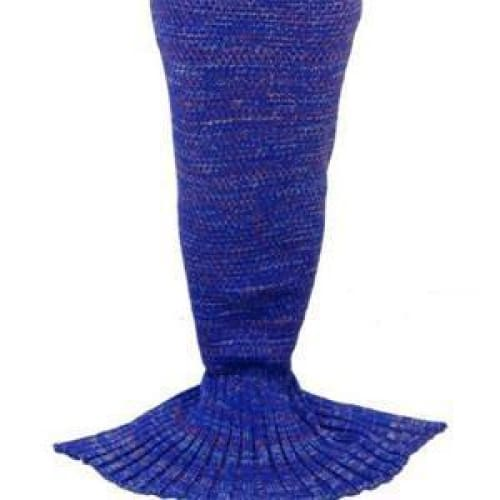 Handmade Crochet Knitted Mermaid Tail Blanket - 1 - Blanket
