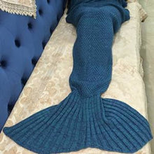 Load image into Gallery viewer, Handmade Crochet Knitted Mermaid Tail Blanket - 10 - Blanket