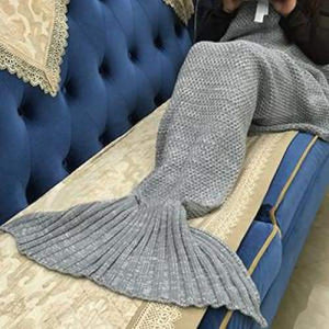 Handmade Crochet Knitted Mermaid Tail Blanket - 11 - Blanket