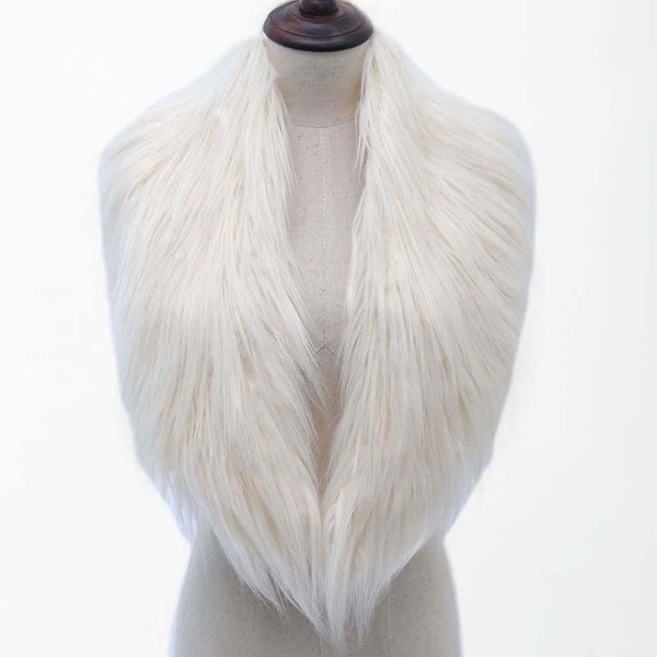 High Quality Faux Fur Shawl - Beige / One Size - Shawls