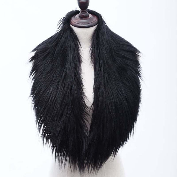 High Quality Faux Fur Shawl - Black / One Size - Shawls