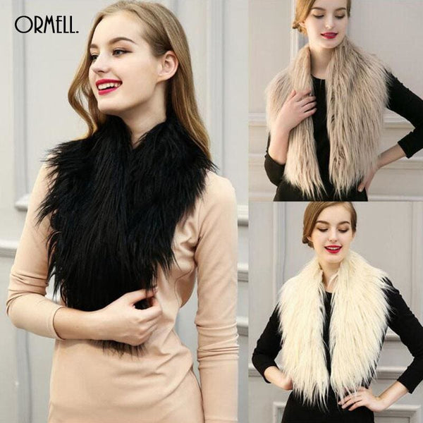 High Quality Faux Fur Shawl - Shawls