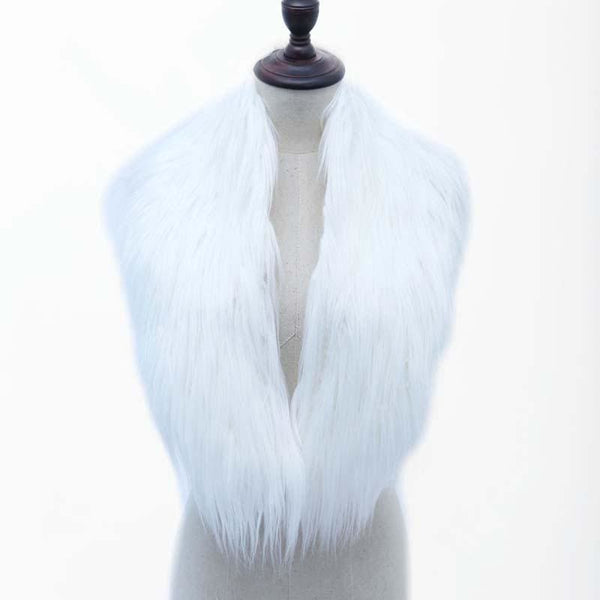 High Quality Faux Fur Shawl - White / One Size - Shawls