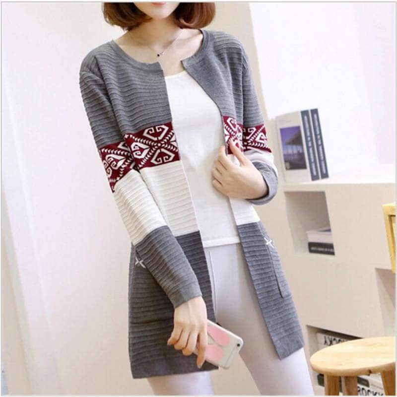 High Quality Knitted Sweater - Style1 Navy Blue / S - Cardigan