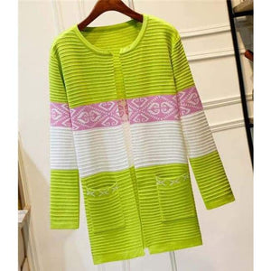 High Quality Knitted Sweater - Style2 Green / S - Cardigan