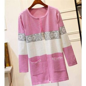 High Quality Knitted Sweater - Style2 Pink / S - Cardigan