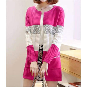 High Quality Knitted Sweater - Style2 Rose Red / S - Cardigan