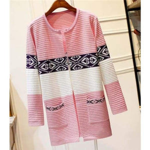 High Quality Knitted Sweater - Style2 Skin Pink / S - Cardigan