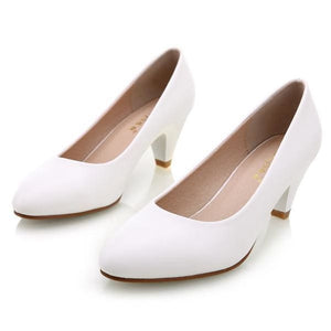 High Quality Office Shoes - White / 4 - shoes