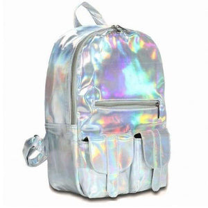 Hologram Laser Backpack - Beige - Backpack