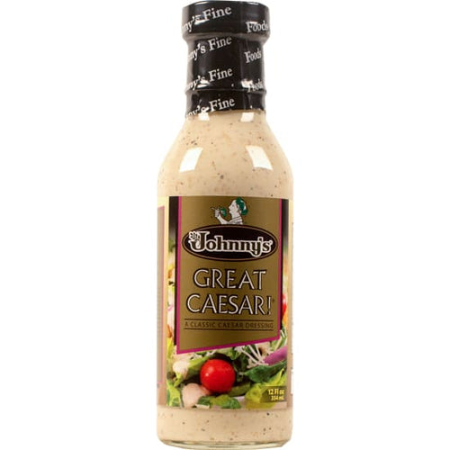 Johnnys Great Caesar Dressing 12 Oz - Marinades and Dressings