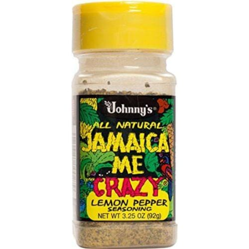 Johnnys Jamaica Me Crazy Lemon Pepper 3.25 Ounce - Spices Seasonings & Extracts