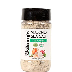 Johnnys Organic Seasoned Sea Salt 8oz - Spices Seasonings & Extracts