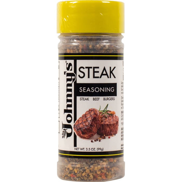 Johnnys Steak Seasoning 3.5 Ounce Bottle - Spices Seasonings & Extracts